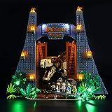 LIGHTAILING Light Set for (Jurassic World Jurassic Park: T. rex Rampage) Building Blocks Model - Led Light kit Compatible with Lego 75936(NOT Included The Model)