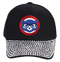 Cool Black Hat With Joe Maddon Harry Caray Glasses With Rhinestone