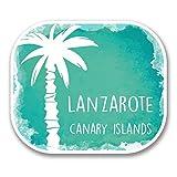 2 x 30cm/300 mm Isla de Lanzarote EspañaAdhesivo para ventana adhesivo coche FURGONETA FURGONETA Glass #6343