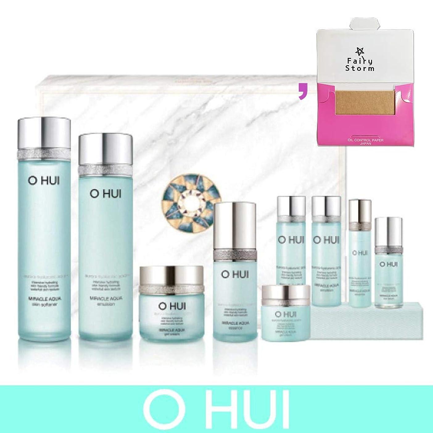 一瞬どこでも趣味[オフィ/O HUI]韓国化粧品 LG生活健康/O HUI MIRACLE AQUA SPECIAL 4EA SET/ミラクル アクア 4種セット + [Sample Gift](海外直送品)