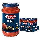 Barilla Pastasauce Olive – Sauce mit Oliven 6er Pack (6x400g)