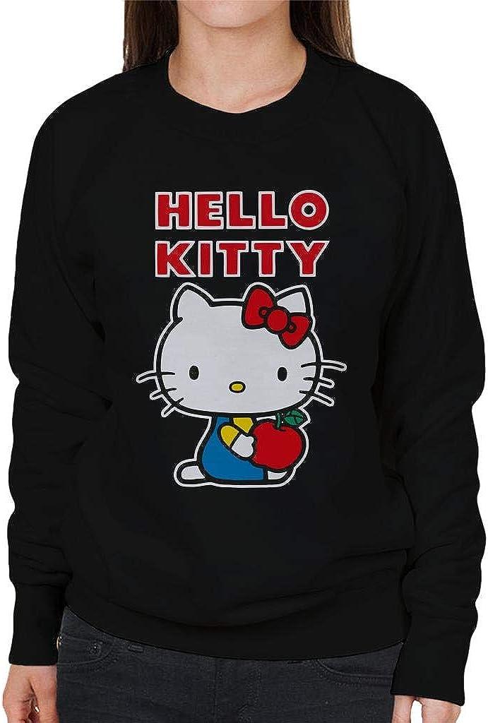 Hello Kitty Holding price Women's Apple New popularity Sweatshirt