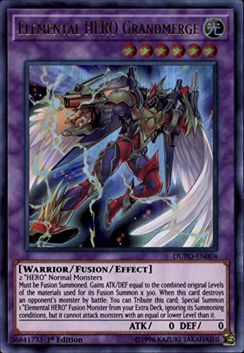 Yu-Gi-Oh! - Elemental Hero Grandmerge - DUPO-EN004 - Ultra Rare - 1st Edition - Duel Power