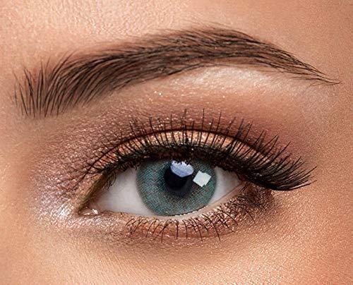 1 Paar blau-grüne Kontaktlinsen von Solotica - Hochwertige Augenfarben ändernde Kontaktlinsen - Tragedauer bis zu 1 Jahr - Der natürlich aussehende Weg der Augenfarbenänderung - Hidrocor Aquamarine