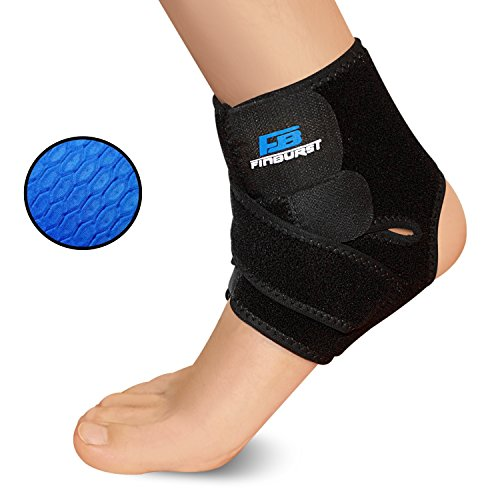 FinBurst Ankle Support Brace - Boost Your Recovery & Confidence - Best for Arthritis, Tendonitis and Sports Sprain Recovery (black, 1 piece)
