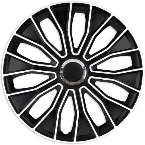Zentimex Z732624 Radkappen Radzierblenden Universal 15 Zoll White Black Auto