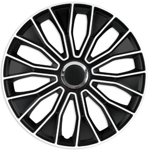ZentimeX Z732624 Radkappen Radzierblenden universal 15 Zoll White Black