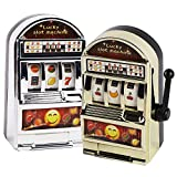 BigOtters Mini Slot Machine Toy, 2PCS Funny Toy Mini Lucky Slot Machine Bank with Spinning Reel for Creative Festival Gift Birthday Cake Decor