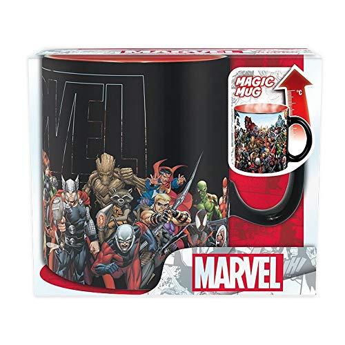 Marvel Comics - Tasse Thermoeffekt 460 ml - Helden und Schurken - Geschenkbox