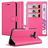 Cadorabo Hülle für LG K41s in Cherry PINK - Handyhülle mit Magnetverschluss, Standfunktion & Kartenfach - Hülle Cover Schutzhülle Etui Tasche Book Klapp Style