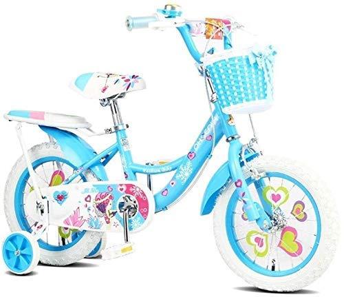 Bicicleta infantil de 16/14/12 pulgadas, bicicleta de 2-3-6-7 años de edad para niños (color: 3, tamaño: 14') 3 14'