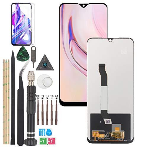 YWL-OU Display für Xiaomi Redmi Note 8T LCD Bildschirmersatz Digitizer Touchscreen Montiert Ersatz mit Werkzeugen(Schwarz)