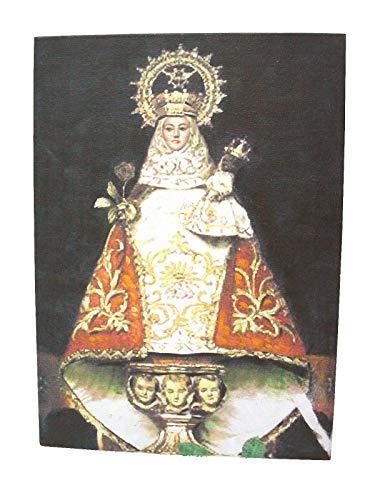 0 www.working-house.com (Regalo / Souvenirs) Cuadro Lienzo Canvas Madera Virgen DE COVADONGA LA Santina Recuerdo Asturias
