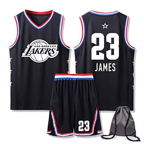 Juego de camisetas de baloncesto para hombre, Lebron James # 23, Los Angeles Lakers Jersey Chaleco, All Star Edition, camiseta deportiva+pantalones cortos, con bolsa de baloncesto