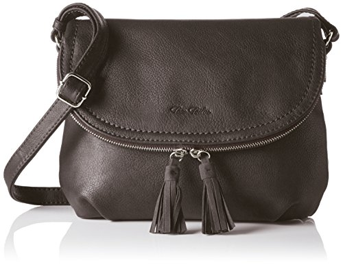 TOM TAILOR Umhängetasche Damen Lari, Grau (Grau), 5x21x26.5 cm, Damen Handtasche TOM TAILOR Handtaschen, Taschen für Damen