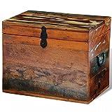 vidaXL Caja de Almacenaje Madera Reciclada Marrón Baul Cofre Almacenamiento
