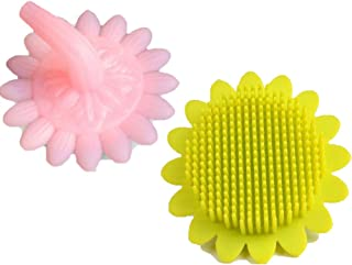 2 Pack Shampoo Brush,Baby Shower Hair Comb,Shampoo Brush,for Senstive Scalp and Kids,Food-Grade Silicone Teeth Baby Hair Scalp Massager(Pink,Yellow),Pink,Yellow B