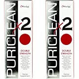Puriclean x2 Same-Day Detox Double Strength Cleansing Quick Flush Potent Deep System Cleanser - Technology Formulated(16 Oz,4 Cap) 2 Pack