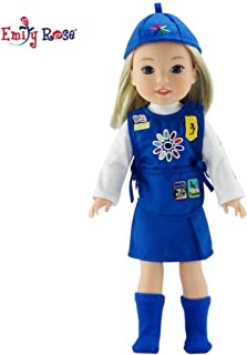 Emily Rose 14 Inch Doll Clothes for   Daisy Girl Scout 5 Piece Outfit   Gift Boxed!   Fits 14