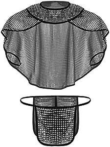 iiniim Disfraz Sexy Gladiador Romano Brillante Lencería Erótica Hombre Ropa Interior Soldado Armadura Cosplay 3PC G-String Tanga + Capa + Escote Sexi Disfrces Halloween Accesorio Negro L