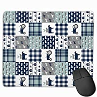 """Navy And Dusty Blue Plaid Farm Mouse Pad Non-Slip Rubber Gaming Mouse Pad Rectangle Mouse Pads for Computers Desktops Laptop 9.8"""" x 11.8"""""""