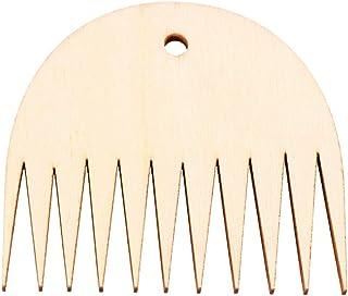 HEALLILY 1 Pc Tapisserie Tissage Peigne Métier à Tisser Bois Peigne Bricolage Tressé Outils Peigne Tissage Accessoires de ...