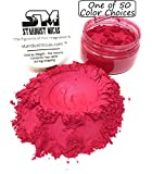Stardust Micas Pigment Powder Cosmetic Grade Colorant for Makeup, Soap Making, Epoxy Resin Pigment Powder, Red Lip Gloss Mica Pigment, Color Stable Red Mica Batch Consistency Red Strawberry
