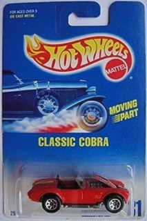 HOT WHEELS 1991 #31 RED CLASSIC COBRA 7 SPOKE WHEELS DIE-CAST