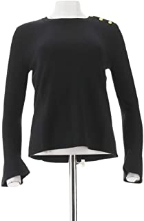 Iman Global Chic Luxe Subtle Bell SLV Sweater 619-703