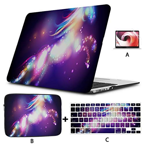 Mac Cases Cooper Girl Star Unicorn Horse Throw Blanket Soft Macbook Air Case Hard Shell Mac Air 11'/13' Pro 13'/15'/16' With Notebook Sleeve Bag For Macbook 2008-2020 Version