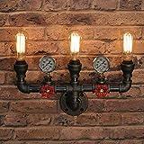 Aparatos de iluminación, Vintage Tube Luz de pared Lámpara de pared Sconte Fistado Industrial E27 Socket 3 Luces para House...
