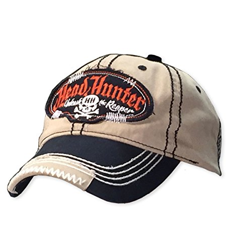 BONE HEAD OUTFITTERS Head Hunter Patched Cap - Detailed Embroidery and Velcro Enclosure.
