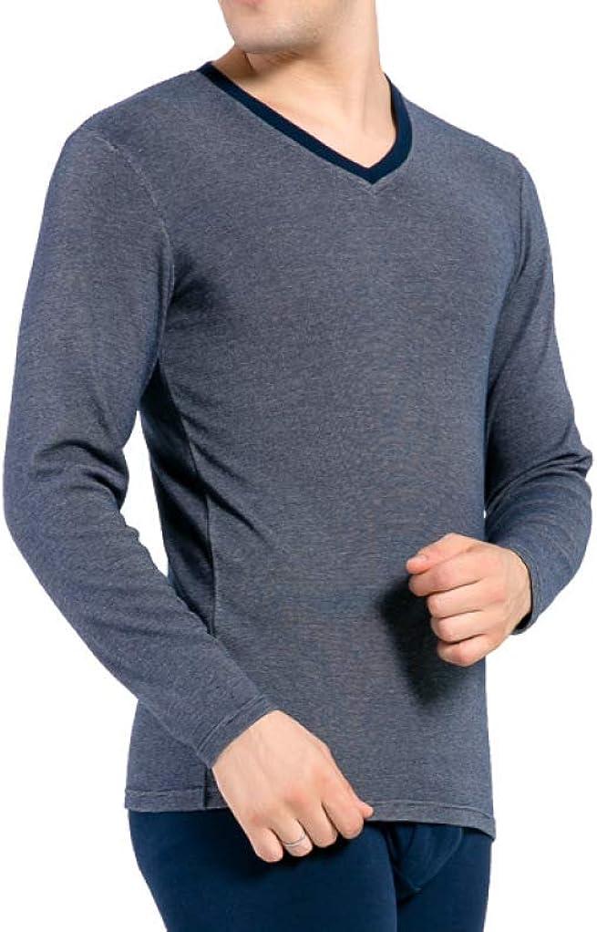 Mens Ultra Soft Cotton Long John Set Stretchy Thermal Underwear Winter Warm Base Layer