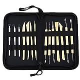 inherited 14 piezas Kit de herramientas para modelar arcilla, Polymer Clay Herramientas, Herramientas de cerámica para modelar y tallar, Con bolsa de almacenamiento