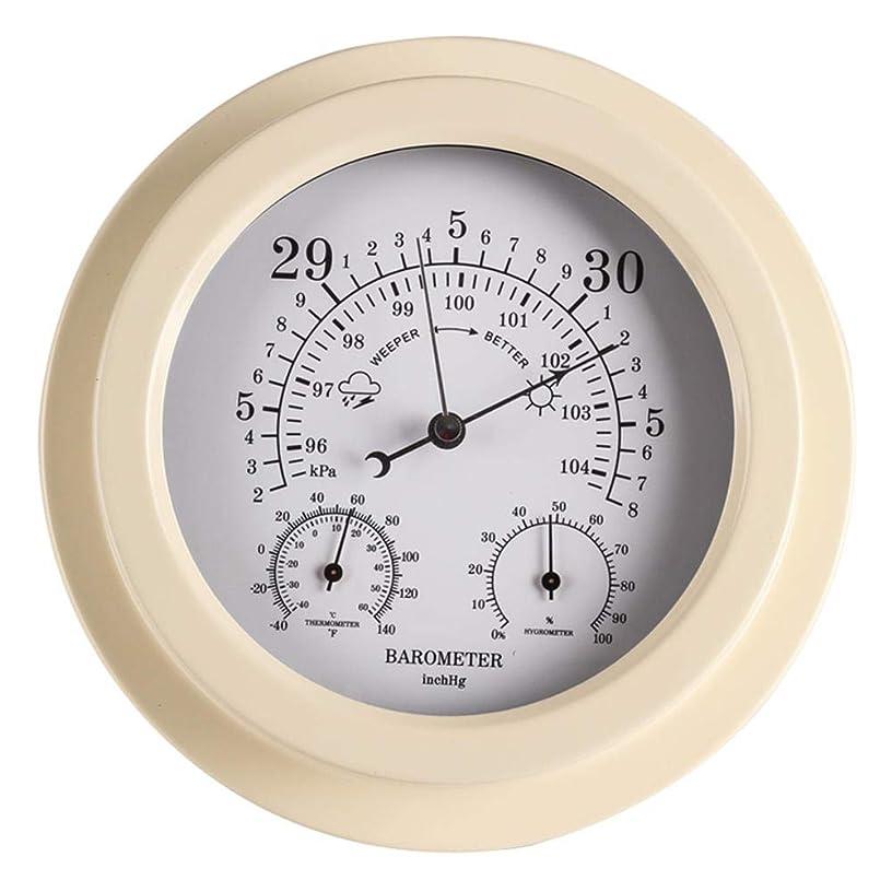 排出贅沢な責JIRENSHU 家庭用気象台温度雰囲気多機能ポータブル気圧計温度計湿度計壁掛け