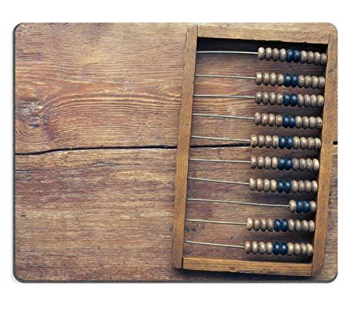 Mausunterlage,Spiel Maus Pad,Gaming Mauspad,Mausmatte,Alter Abakus Auf Der Vintage Holztischplatte Mat Mice Mousepad Für Office Home Laptop Computer Pc