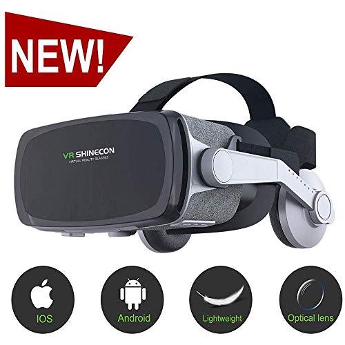 ACCDUER VR-Headset, Virtual Reality-Headset, VR-Brille für Fernsehen, Filme und Videospiele - 3D-VR-Brille für iOS, Android und andere Handys im Umkreis von 4,7 bis 6,0 Zoll