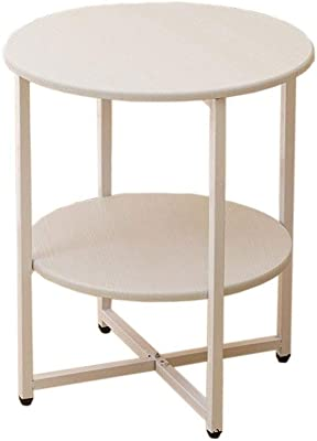 Nordic Small Round Table, Small Coffee Table, Solid Wood Table top, Bedside Table Shelf, Portable,47x40cm Suitable for Living Room and Bedroom (Size : C)