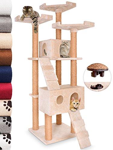 Leopet – Árbol rascador para gatos con cuevas, escaleras y plataformas...