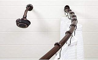 "Bath Bliss Wall Mounted Adjustable Curved Bathroom Shower Curtain Rod, 42""-72"", 33%.."
