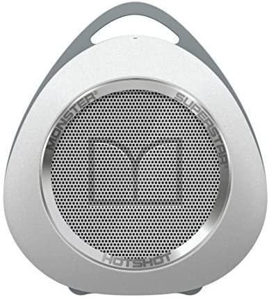 Monster MSP SPSTR HOT BT WHCR WW Superstar Hotshot Portable Bluetooth Speaker, White/Chrome