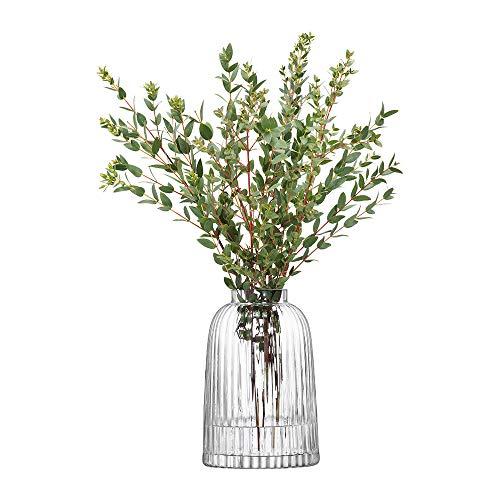 LSA PT01 Vase Pleat, hauteur 20 cm, transparent