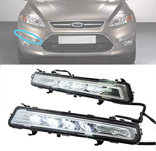 JYCX Faros Antiniebla De Parrilla De Parachoques para Ford Mondeo 2011-2012 Luces Led De Conducción Diurna