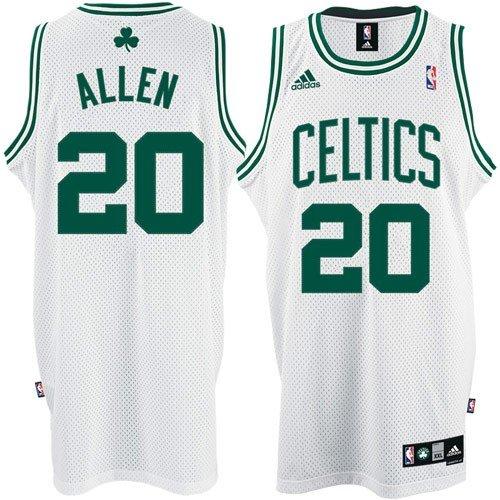 adidas Ray Allen #20 Boston Celtics Home Swingman NBA Jersey White Size XL