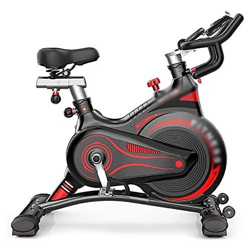DJDLLZY Bici magnetiche, con cinghia per bicicletta, per interni, ciclismo, fitness, per casa, cardio e allenamento, con monitor LCD