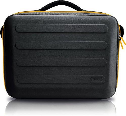 Philips SLE6130AN/10 Schultertasche für Notebook 13,3 Zoll schwarz/orange