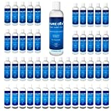 Pack of 48 Pure Gem 6.7 Oz Bulk Pack, Instant Hand Sanitizers for Effective Cleaning and Skin Moisturization | No Rinse | Fragrance Free | Improved Formula | Aloe Vera | 75% Alcohol