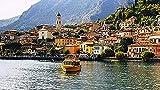 MSSZSH Juego De 1000 Piezas Juego De Lago De Garda, Italia Rompecabezas De Arte para Adultos Rompecabezas para Adultos Juegos De Rompecabezas