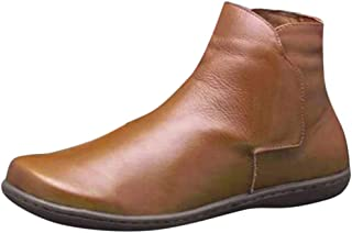 🌻Womens New Arch Support Boots, Womens Flat Heel Boot Soft Arch Support Ankle Boot Casual Booties