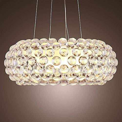 MILUCE Lampada a Sospensione Lampadario Moderno Lampadario Ristorante in Stile Nordico Incluso 1 Luce (Dimensioni : Diam50cm)